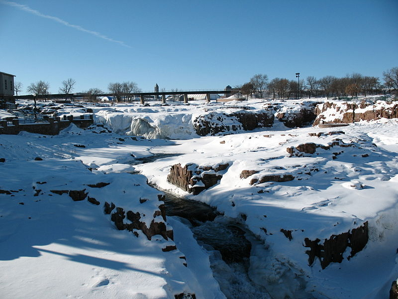 The Sioux Falls in the Winter