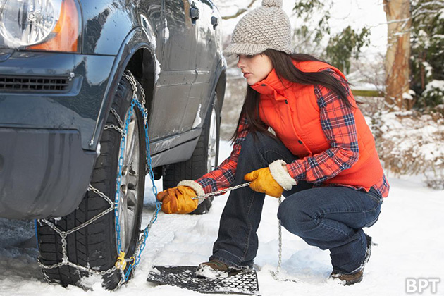 FILE: Winter Driving, Winter Weather, Car Tire