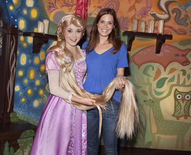 Mandy Moore Visits Disneyland In California